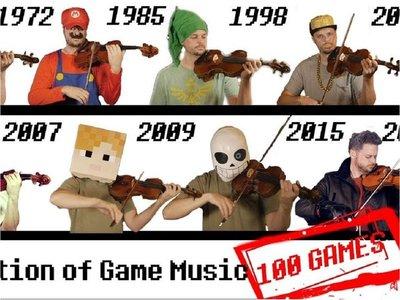 El violinista que interpreta las canciones de los videojuegos