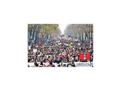 Masiva marcha en Francia contra reforma de pensiones