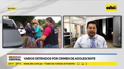 Varios detenidos por crimen de adolescente