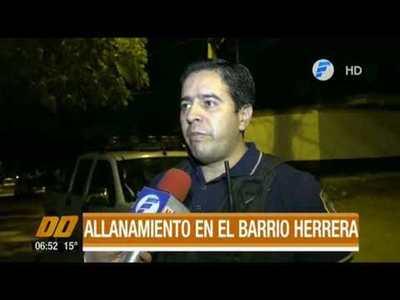 Realizan allanamientos en varias ciudades del Departamento Central