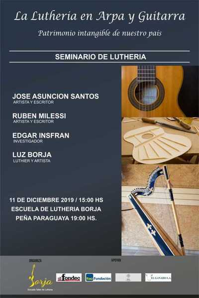 Harán seminario de luthería en la Escuela Borja
