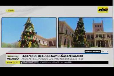 Encendido de luces navideñas: Jardines del Palacio estarán abiertos al público para recorrido