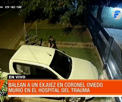 Así mataron a un exjuez en Coronel Oviedo
