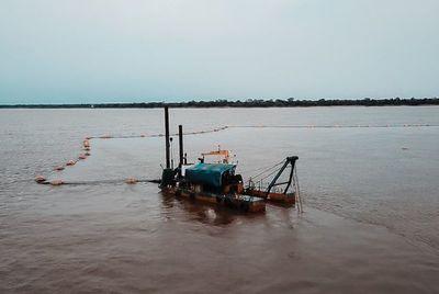 Inician el dragado del río Paraguay en zona de Guyrati