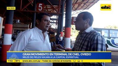 Gran movimiento en terminal de Cnel. Oviedo
