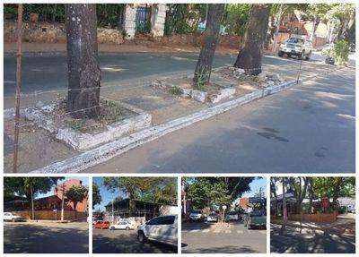 Alambre de púa en la calle por falta de planificación municipal