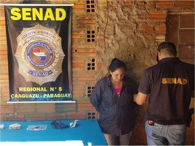 Detienen a mujer de 52 años, distribuidora de crac en Caaguazú