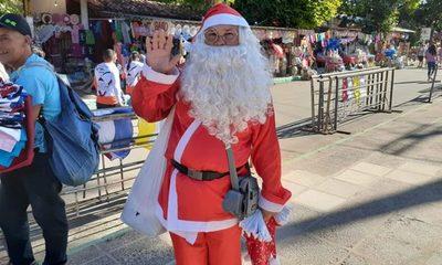 Papá Noel ya está en Caacupé