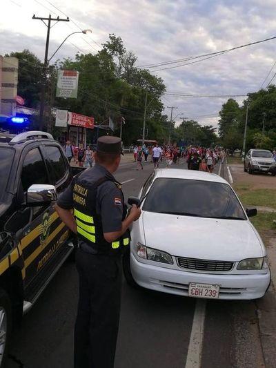 Conductor alcoholizado que puso en riesgo a peregrinos