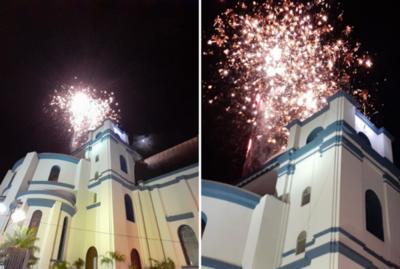 Con esta explosión de colores, felicitaron a la Virgen de Caacupé