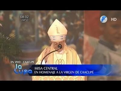 Dura carta del monseñor Valenzuela tras la misa de Caacupé