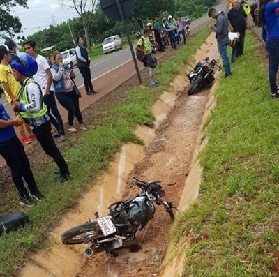 Choque frontal entre motocicletas deja un fallecido en Mallorquín