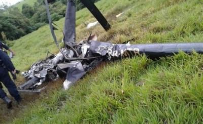 Helicóptero cae en una estancia en Itakyry