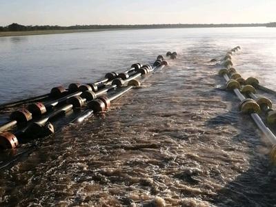Inician el dragado del Río Paraguay en la zona de Guyrati