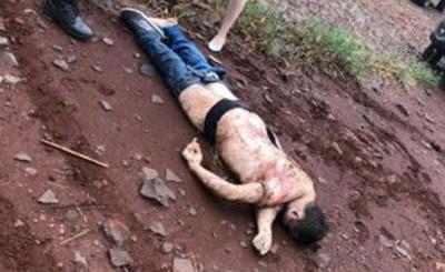 Hallan cadáver de un brasileño en un camino vecinal de Minga Pora