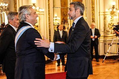 Abdo deseó éxitos al nuevo presidente argentino y destacó puntos en común