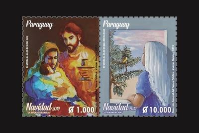 Correos emite estampillas navideñas con pinturas de Koki y Macarena Ruiz
