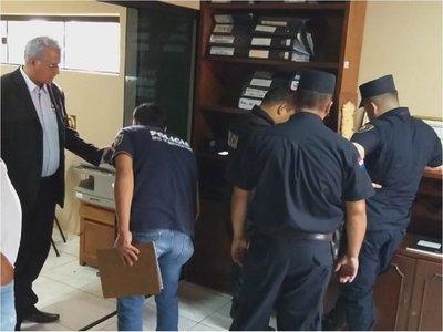 Hurtan notebooks y televisor de la Junta Departamental de Amambay