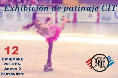 Exhibición de patinaje artístico en el CIT