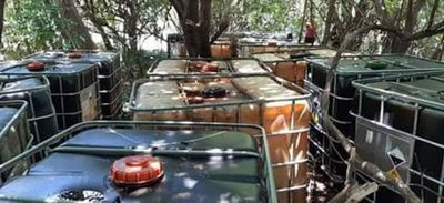 Incautan combustible de presunto ordeñe en barrio de Pilar