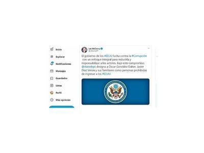 EEUU  siempre vio la corrupción como un grave mal del Paraguay