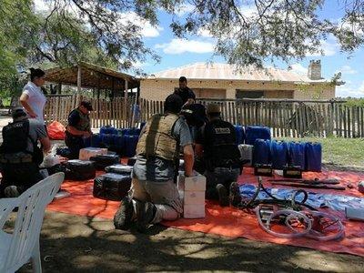 Fiscalía y Senad incautan en el    Chaco 480 kg de coca listos para el envío