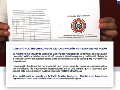 Fiebre amarilla: Recuerdan la importancia de contar con el carnet internacional de vacunación