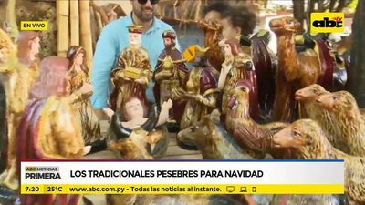 Los tradicionales pesebres para navidad