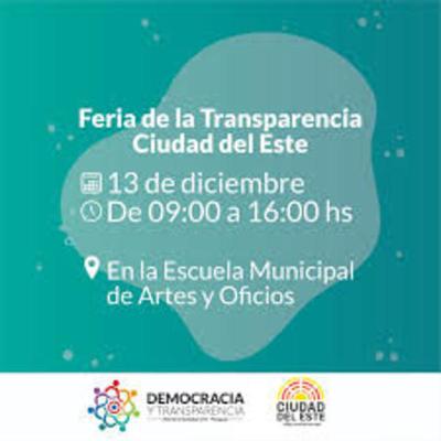 Feria de la Transparencia en CDE será este viernes