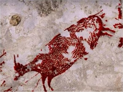 Descubren la pintura rupestre de caza más antigua del mundo