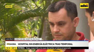 Hospital sin energía eléctrica tras temporal