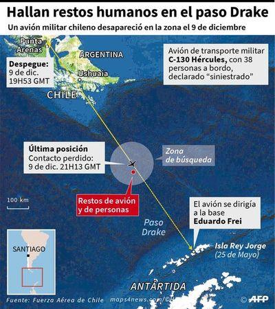 Chile confirma muerte de pasajeros de avión militar