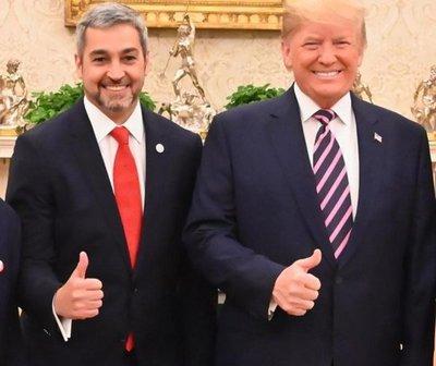 Mario Abdo se reunió con Donald Trump