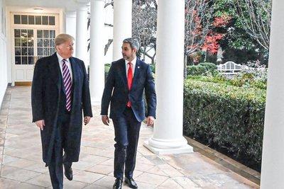 Abdo y Trump acuerdan cooperación económica y de seguridad entre los dos países
