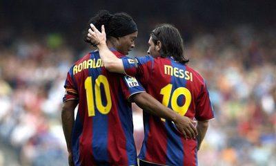 Ronaldinho asegura que Messi no es el mejor de la historia