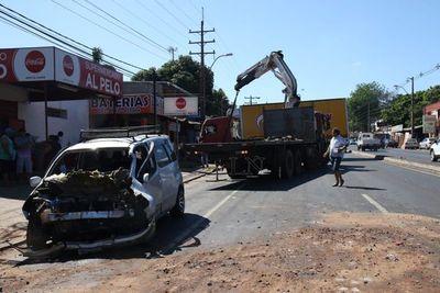 Accidente sobre Acceso Sur deja un herido