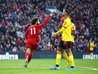 Salah mantiene el inmejorable momento del Liverpool