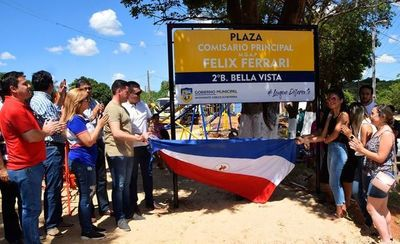 "Inauguran la Plaza ""Comisario Félix Ferrari"" •"