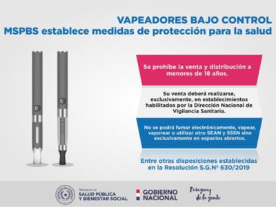 Ministerio de Salud establece medidas sobre los vapeadores