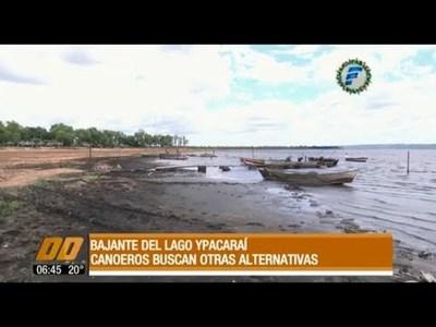 Bajante del lago Ypacaraí: Canoeros buscan alternativas