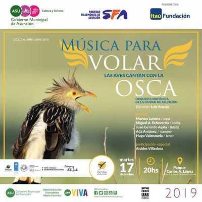 """""""Música para volar – Las aves cantan con la Osca"""" en el Parque Carlos A. López de Asunción"""