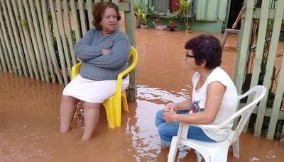 Viviendas inundadas por lluvias en Concepción