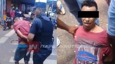 TRABAJADORES ATRAPARON A SUPUESTO LADRÓN EN EL CIRCUITO COMERCIAL
