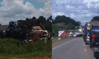 Choque entre camiones deja un fallecido