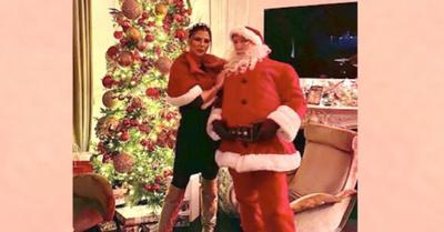 La Galanti tiene árbol navideño y Papá Noel propio