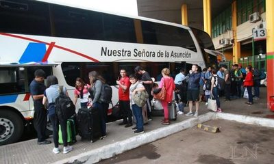 Liberan horarios de buses por fiesta de fin de año
