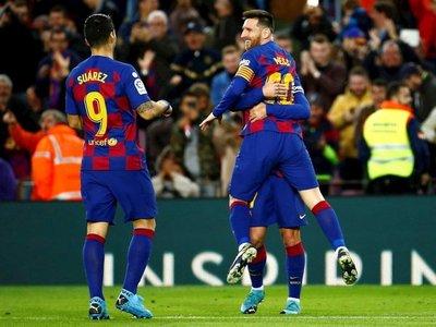 El Barça cierra el año con goleada