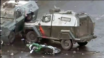 Funcionario de la Policía chilena fue imputado por atropellar a un manifestante