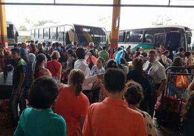 180.000 personas pasaron por Terminal de Ómnibus durante fin de semana