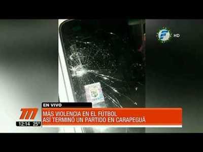 A los golpes terminó un partido de fútbol en Carapegua